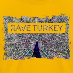 Colorful disco Peacock: Party Rave Turkiet - Premium-T-shirt herr