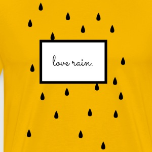 love rain. Scandinavian design, black / white - Men's Premium T-Shirt