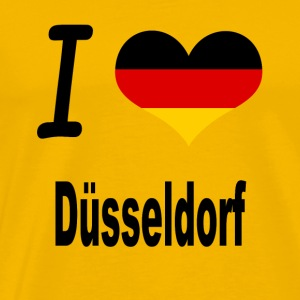I Love Germany Home Duesseldorf - Männer Premium T-Shirt