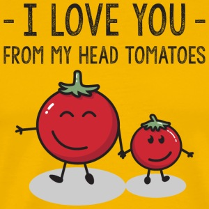 Child I Love You From My Head Tomatoes Vegetable - Männer Premium T-Shirt