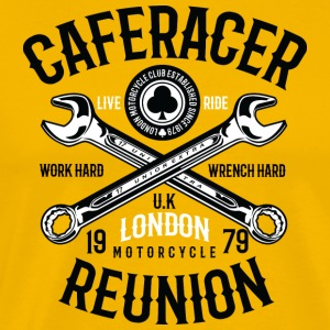 Caferacer Reunion Work Hard Wrench Hard - Männer Premium T-Shirt
