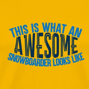 Awesome boarder - Boarder Power - Herre premium T-shirt