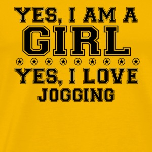 yes gift on a girl love bday gift JOGGING - Men's Premium T-Shirt