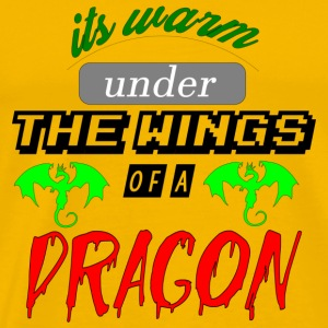 its warm under the wings of a dragon - Men's Premium T-Shirt