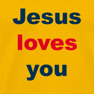 Jesus Loves You - Jesus liebt Dich - Männer Premium T-Shirt