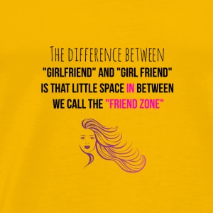 The difference between girlfriend and girlfriend - Men's Premium T-Shirt
