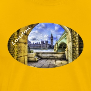 London / Westminster Bridge et Big Ben - T-shirt Premium Homme