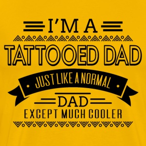 Fatherday - Tattooed Dad - Mannen Premium T-shirt