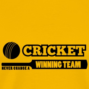 Cricket nie change a winning team - Männer Premium T-Shirt