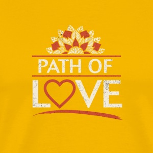Path of Love - Mannen Premium T-shirt