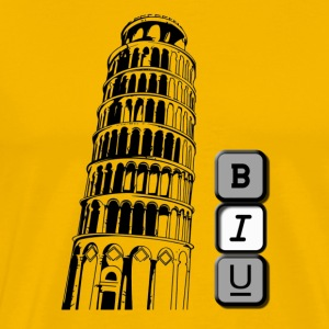 Tower of Pisa in Italic - Men's Premium T-Shirt