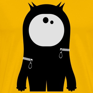 Cute, black monster - Men's Premium T-Shirt