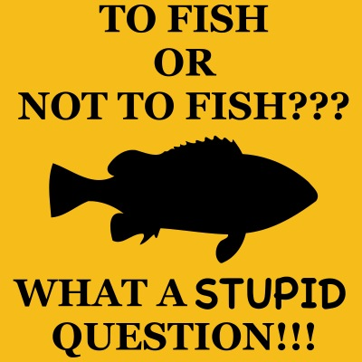 Funny fishing motif - Fish Or Not to Fish?