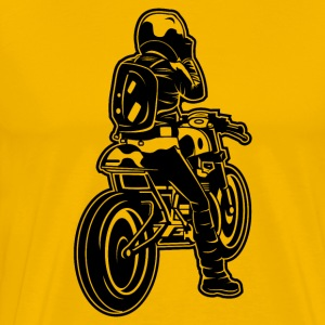 Cafe Racer Motorcycle 02_black - Men's Premium T-Shirt