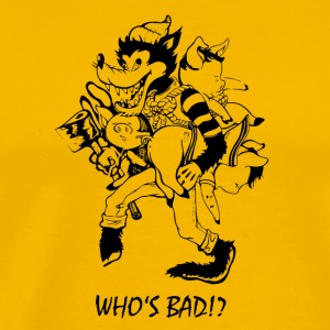 whos Bad - Premium T-skjorte for menn