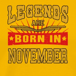 Legends zijn geboren in november legendes shirt - Mannen Premium T-shirt