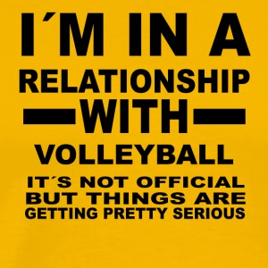 relationship with VOLLEYBALL - Männer Premium T-Shirt