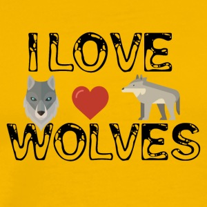 I love wolves - Men's Premium T-Shirt