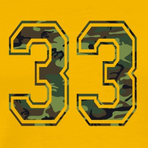 Numbers Camouflage Paintball Bundeswehr 33 - Men's Premium T-Shirt