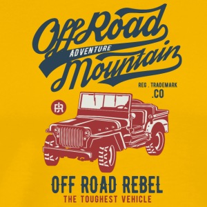 Off Road Jeep - Herre premium T-shirt