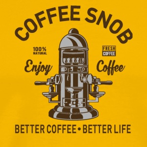 COFFEE SNOB - Men's Premium T-Shirt