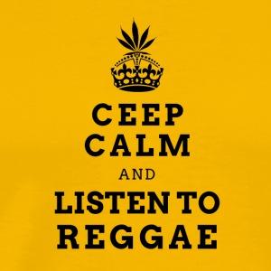 CEEP CALM REGGAE (DARK LABEL) - Mannen Premium T-shirt