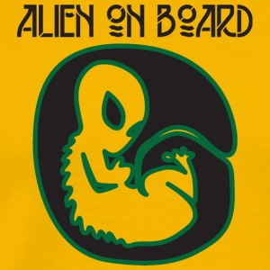 Alien / Area 51 / UFO: Alien On Board - Gravid - Premium T-skjorte for menn