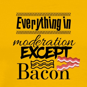 Everything in moderation except bacon - Men's Premium T-Shirt