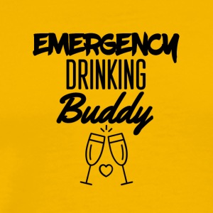 Emergency drinking buddy - Männer Premium T-Shirt