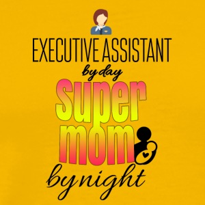 Executive Assistant dagen super mamma om natten - Premium T-skjorte for menn