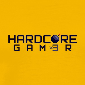 Hardcor3 Gam3r - Herre premium T-shirt