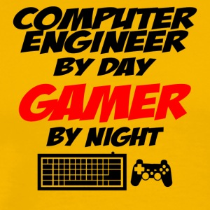 computer engineer by day gamer by night - Männer Premium T-Shirt