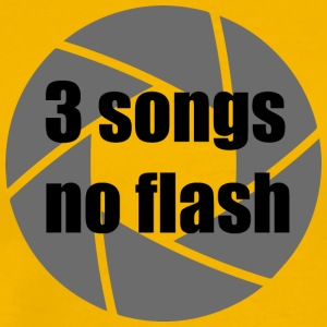 3 songs - no flash - Männer Premium T-Shirt