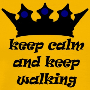 keep calm n keep walking - Men's Premium T-Shirt