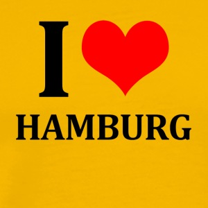 I Love Hamburg - Premium T-skjorte for menn