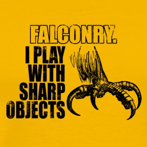 Falconry - play with sharp objects - Men's Premium T-Shirt