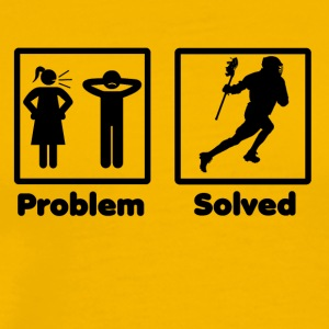 problem solved lacrosse - Men's Premium T-Shirt