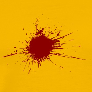 Blood Spatter From A Bullet Wound - Premium T-skjorte for menn