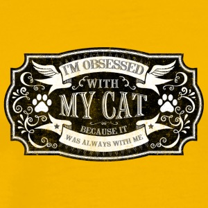 cat I m obsessed with my cat - Men's Premium T-Shirt