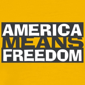 America Means Freedom - America is freedom - Men's Premium T-Shirt