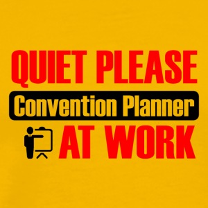 quiet please convention planner at work - Männer Premium T-Shirt