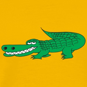 Grina Alligator - Premium-T-shirt herr