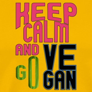 vegan t shirt Keep calm and go vegan - Men's Premium T-Shirt
