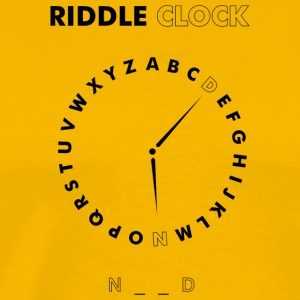 Riddle Clock Nerd - Premium T-skjorte for menn