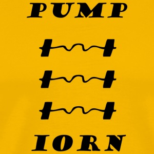 iorn pump - Men's Premium T-Shirt