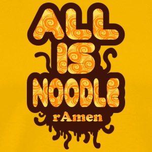 Alles is noodle Pastafarian Flying Spaghetti Monster - Mannen Premium T-shirt