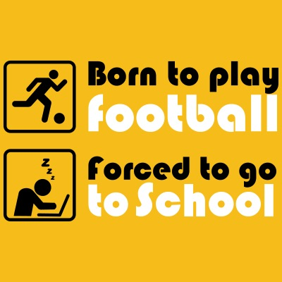 Born to play football - forced to go to school