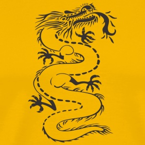 Dragon - uncolored - Männer Premium T-Shirt