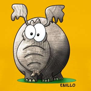 Enillo Cartoon Elefant - Männer Premium T-Shirt