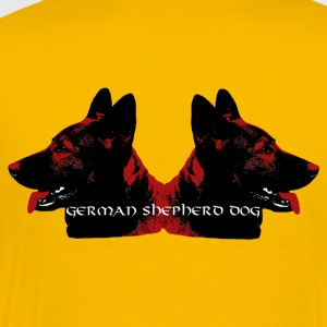 Shepherd, dog head, dog sports, dog , - Men's Premium T-Shirt